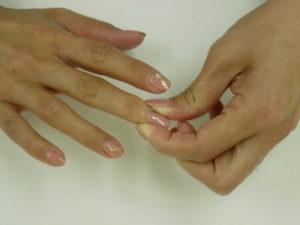 ワイズ整体院の爪もみ体操画像